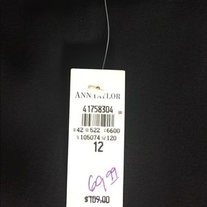 Ann Taylor black skirt-New w/tags-Was $109 now $25